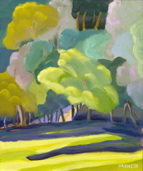 Ashville Grove, oil painting, Bonnie Mincu