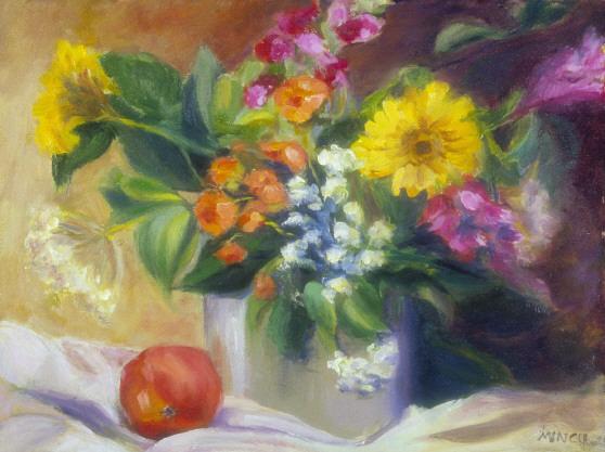 Bouquet in Ice Bucket