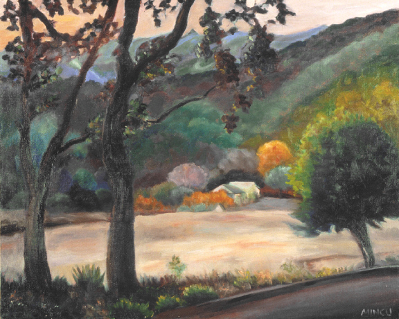 Day's End Ojai, California landscape, twilight
