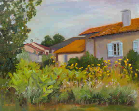 Heat of the Afternoon, French oil painting, Dordogne, Bonnie Mincu