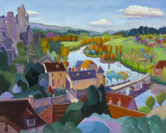 Protection of the Castle, 26x30, Loire Valley