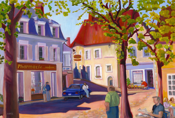 Saturday Morning in Town by Bonnie Mincu
