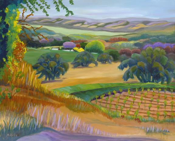 Sonoma Hills California Oil Painting By Bonnie Mincu