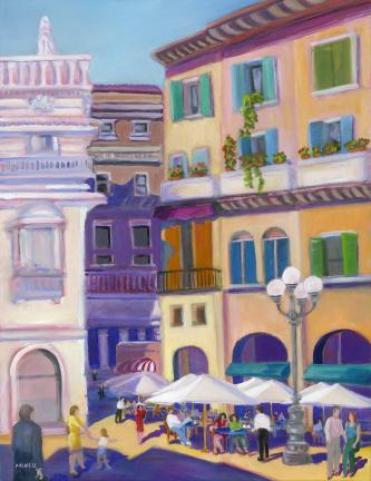 Verona Piazza by Bonnie Mincu